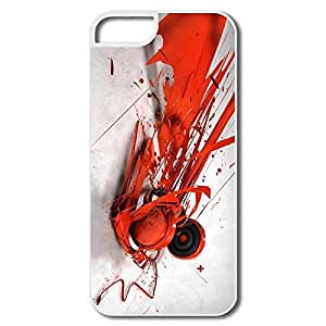 Abstract Music Headphones Plastic Cute Cover For IPhone 5/5s