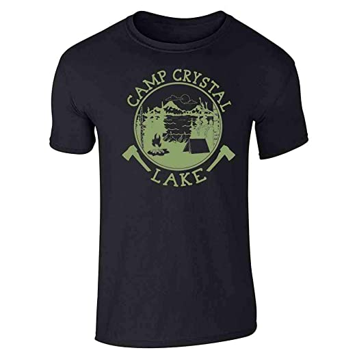 691c8b5d5d03 Pop Threads Camp Crystal Lake Counselor Shirt Costume Staff Black S Short  Sleeve T-Shirt