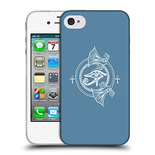 GoGoMobile Coque de Protection TPU Silicone Case pour // Q09820600 Religion 22 Aviation Bleu // Apple iPhone 4 4S 4G