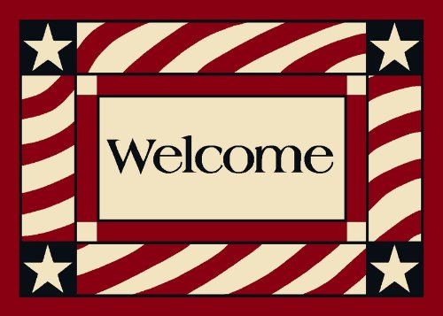 Summer Patriotic Welcome America Door Mat Size: 3'10'' x 5'4''