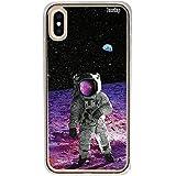 Capa Personalizada para Iphone XR - Astronauta na Lua - Husky, Husky, Capa Protetora Flexível, Colorido