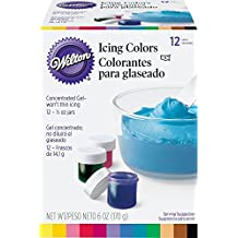 Wilton 1/2-Ounce Certified-Kosher Icing Colors, Set of 12, Cake Decorating Supplies
