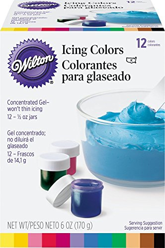 Wilton 601-5580 1/2-Ounce Certified-Kosher Icing Colors, Set of (Wilton Cake Decorating Color)