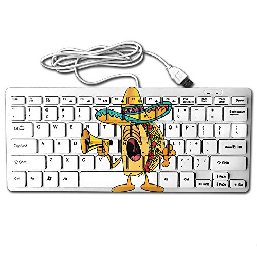 Price comparison product image Taco Cute Mini Keyboard Wired Thin Light 78 Keys USB For Pc Computer Laptop