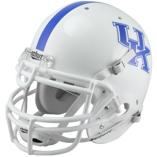 NCAA Schutt Kentucky Wildcats Full Size Authentic Football Helmet - White by Schutt