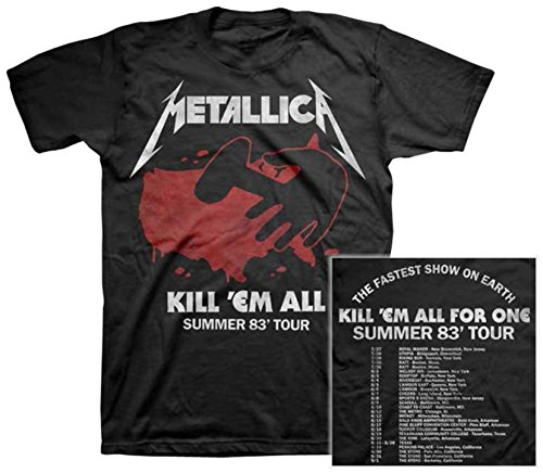 Official Metallica Kill Em All 83 Tour T-Shirt - S to XXL