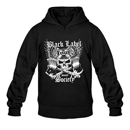 SUNRAIN Men's Customized Black Label Society Band Logo Hoodies L