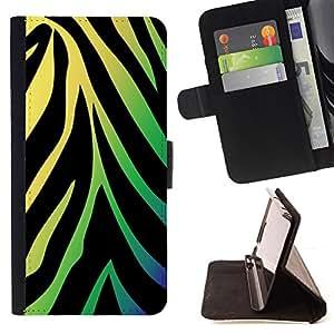 - Neon Zebra Pattern/ Personalizada del estilo del dise???¡¯???¡Ào de la PU Caso de encargo del cuero del tir???¡¯????n del s - Cao - For Samsung Galaxy S
