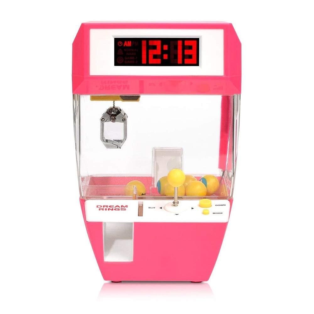 Diversión Creativa Colección De Caramelos Despertador, Juegos Tradicionales Infantiles Juego De Arcade De Las Garras Del Partido Y Las Características De La Música Como Un Regalo (Rosa, Azul),Pink