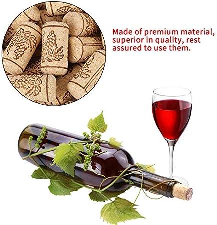 1XJuego De 100±2 Piezas De Corchos Naturales, Corchos Reciclados De Primera Calidad, TapóN De Botella De Vino En Forma De Cilindro Recto Natural para Embotellar Vinos O Manualidades Y DecoracióN