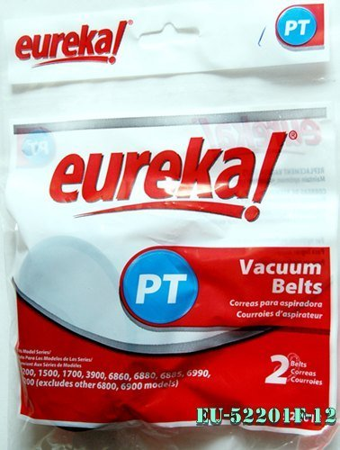Eureka Genuine Belt For Home Cleaning System Canister Vacuums 1200, 1500, 1700, 3900, 8200, 6860, 6880, 6885 and 6900.