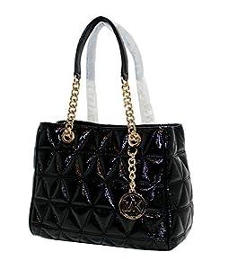 b141581231d7 ... Michael Kors Women's Susannah Medium Tote Leather Handbag (Black. upc  191262296659 product image1