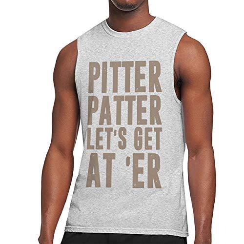 CHENXINWEI Pitter Patter LetterKenny Men's Tank Top Muscle Shirt Tank Top Shirt Gray