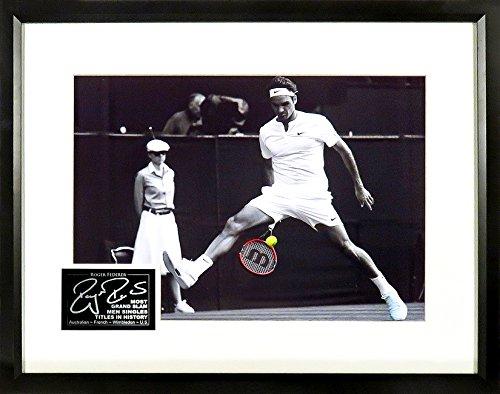 Roger Federer Wimbledon Spotlight 11x14 Photograph (SGA Signatures) Framed