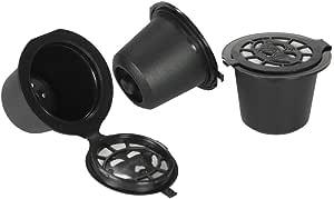 كبسولات قهوة قابلة لإعادة الاستخدام مع ملعقة وفرشاة مجموعة من 3 مرشحات قهوة لماكينة تخمير نيسبريسو