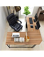 DlandHome L-Shaped Computer Desk 59 Inches+59 Inches, ZJ02