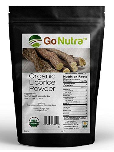 Licorice Root Powder Organic Non-Gmo 1lb. Liquorice Glycyrrhiza Glabra