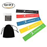 Resistance Loop Exercise Bands - Workout Bands - Stretch Bands -Best for Pilates, Stretching, Physical Therapy, Yoga and Home Fitness - with Instruction Guide & Handy Carry Bag -Scotamalone