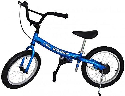 Glide Bikes Kid's Go Glider Balance Bike Blue 16-Inch [並行輸入品] B077QH35M8