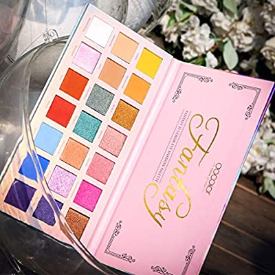 Docolor Professional Eyeshadow Palette Makeup-Pigmented Matte Shimmer 21Colors-Chunky Eyeshadow Palette Pop Colors Blendable Eye Shadow Powder Make Up Waterproof Eye Shadow Palette Cosmetics