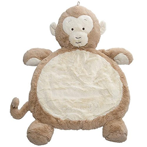 Cloulds_Zone Lovely Cartoon Animal Designs Round Cotton Baby Kids Play Mat Crawling Pads Indoor Activity Game Blanket Rug Carpet (Monkey) - Monkey Rug