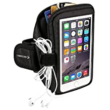 Sports Armband: Cell Phone Holder Case Arm Band Strap with Zipper Pouch/Mobile Exercise Running Workout for Apple iPhone 6 6S 7 Plus Android Samsung Galaxy S5 S6 S7 S8 Note 4 5 Edge LG HTC ASUS Pixel