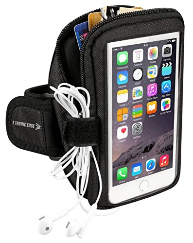 Sports Armband: Cell Phone Holder Case Arm Band Strap With Zipper Pouch Mobile Exercise Running Workout For Apple iPhone 6 6S 7 Plus Touch Android Galaxy S5 S6 S7 Note 5 Edge Pixel