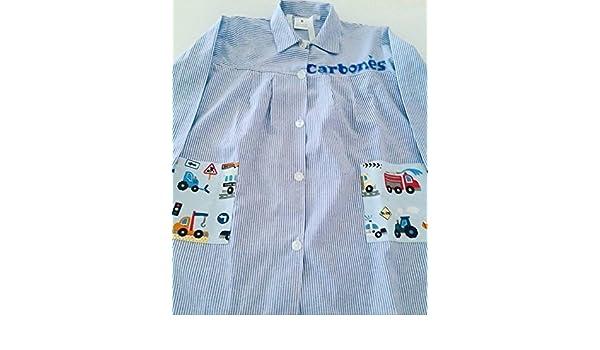 Bata escolar colegio personalizada Coches, tractor...: Amazon.es: Handmade