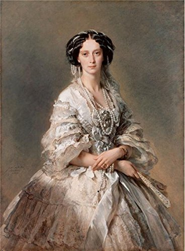 The Perfect Effect Canvas Of Oil Painting 'Portrait Of Empress Maria Alexandrovna,1857 By Franz Xaver Winterhalter' ,size: 24x33 Inch / 61x83 Cm ,this High Resolution Art Decorative Prints On Canvas Is Fit For Foyer Artwork And Home Decoration And Gifts