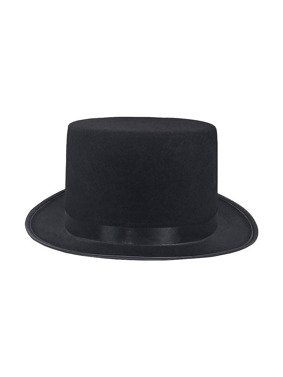 1b9e8a24112068 Amazon.com: Mens Short Black Top Hat Cap Topper Steampunk Victorian Charles  Dickens: Clothing
