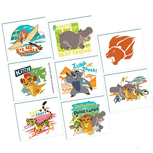 Lion King Party Costumes (Lion Guard Tattoos 8 count Lion King Birthday Party Supplies)