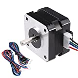 uxcell Stepper Motor Nema 17 Bipolar 16mm 0.315NM 1.5A 3.6V 4 Lead Cables for 3D Printer CNC Router Laser Lathe Machine Stage Light Control