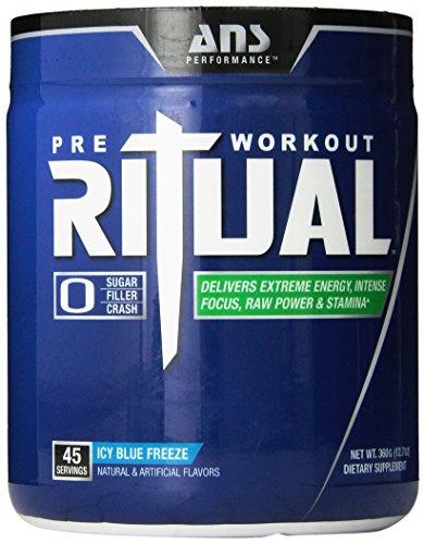 ANS Performance Ритуал полное дополнение Pre-Workout, ноль Наполнители, ледяной голубой замораживания, 360 грамм