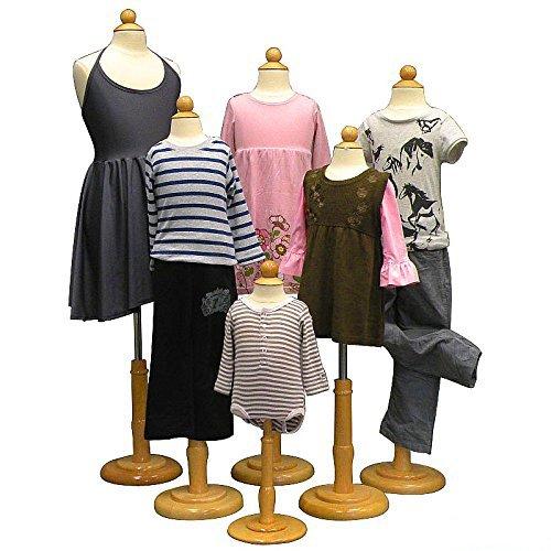 Children Body Dress Form Mannequin - 4 Units (6 Months,1-2 Years,3-4 Years,6-8 Years) - Kid Mannequin