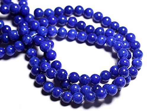 Royal Ruby Ball (39cm stone beads - Jade balls 8 mm Royal Blue)