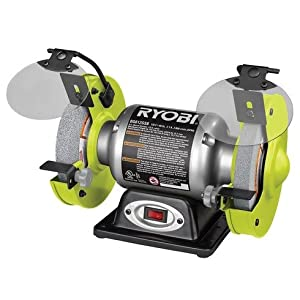 Ryobi 6 In Bench Grinder Bg612gsb Amazon Com