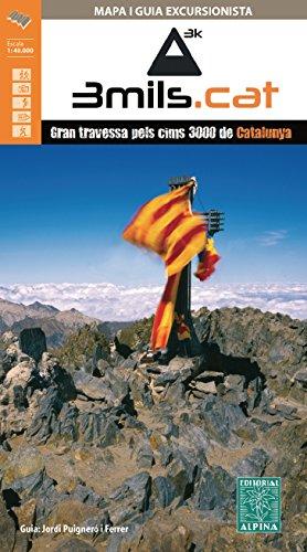 3mils.cat - Gran travessa pels cims 3000 de Catalunya, mapa ...