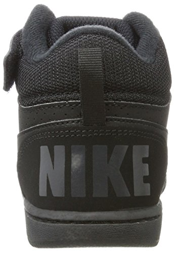 Nike Jungen Court Borough Mid (Psv) Sneaker Schwarz (Black/Black)