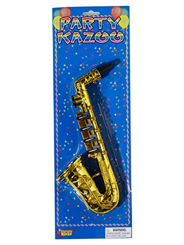 (Forum Novelties Gold Saxophone Party Kazoo Play Musical Instrument)
