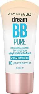 Maybelline New York Dream Pure BB Cream Skin Clearing Perfector, Medium, 1 Fluid Ounce