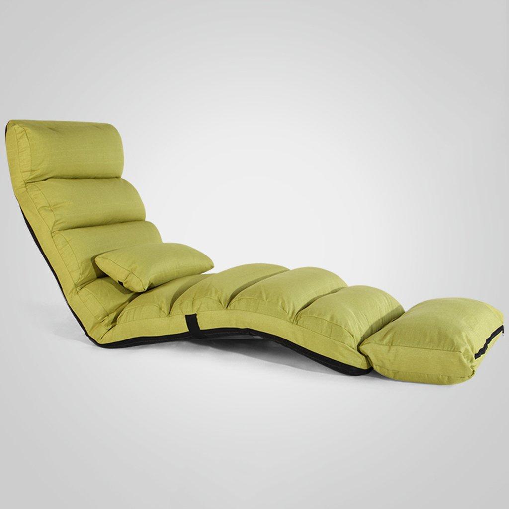 Bodenstuhl Blauer Boden-Stuhl Mit Hinterer Unterstützung Für Erwachsene, Längliches Faltbares Faules Sofa Für Die Meditationsseminare, Die Fernsehendes Aufpassendes Spiel Lesen