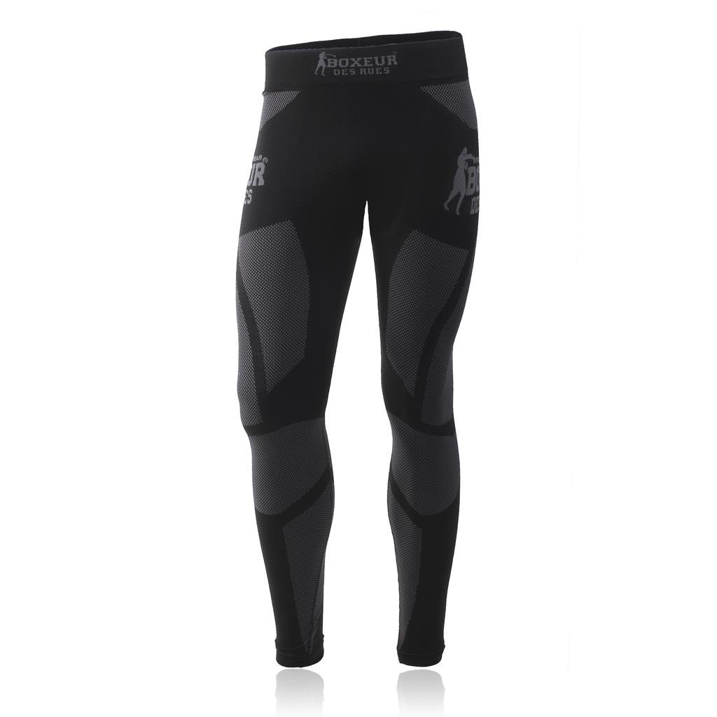 BOXEUR DES RUES Serie Fight Activewear, Leggings Uomo, Nero, M 414153