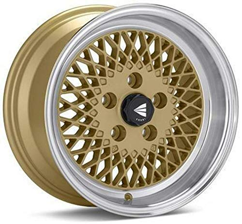15x7 Enkei ENKEI92 (Gold w/ Machined Lip) Wheels/Rims 4x100 (465-570-4938GG)