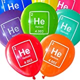 Nerdy Words Mad Science Party Balloons - Helium Periodic Table Element (16 pcs) Assorted Colors