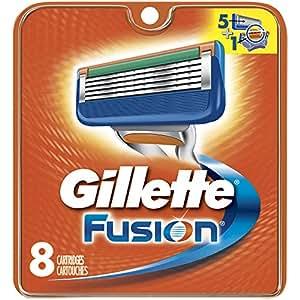 Gillette Fusion Manual Men's Razor Blade Refills, 8 Count, Mens Razors / Blades