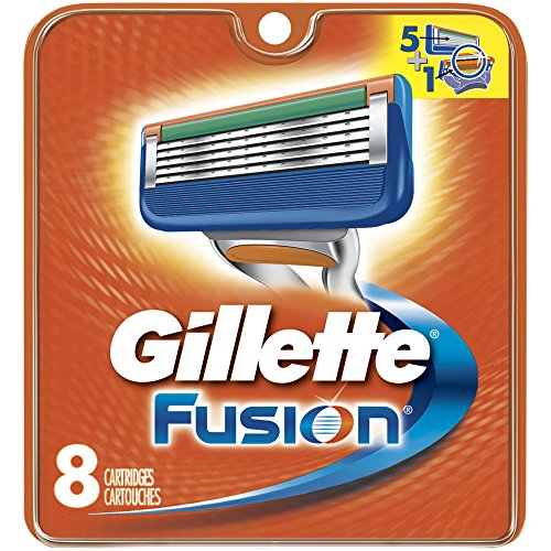 Gillette Fusion Manual Men's Razor Blade Refills, 8 Count, Mens Razors / Blades