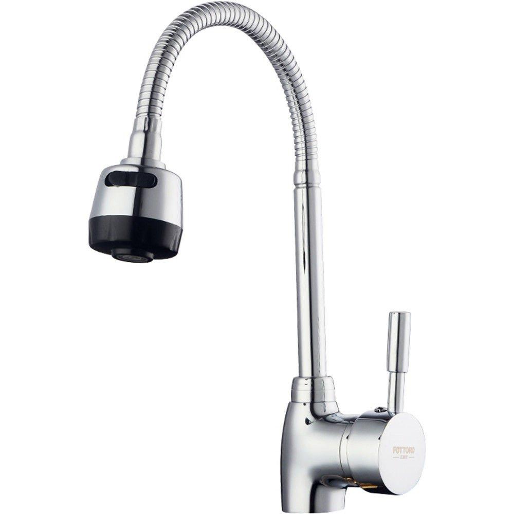 ANNTYE Waschtischarmatur Bad Mischbatterie Badarmatur Waschbecken 360° drehbarer Warmes und kaltes Wasser Badezimmer Waschtischmischer