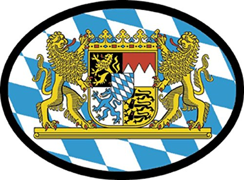 (JS Artworks Bavaria Coat of arms Oval Vinyl Sticker Decal)