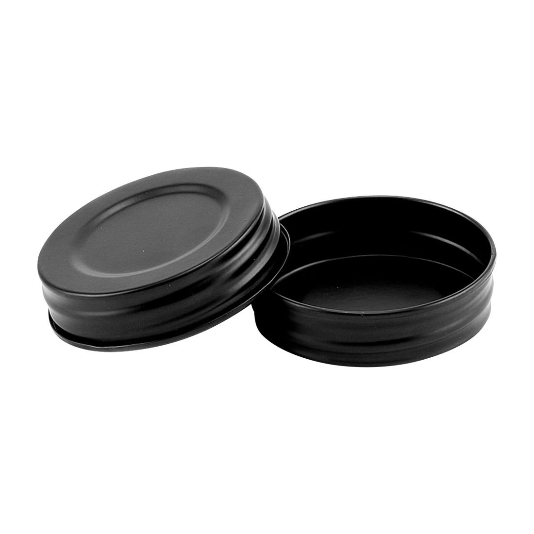 North Mountain Supply Regular Mouth Metal One Piece Mason Jar Unlined Lids - Pack of 72 - Olde Tyme Black