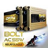 OPT7 Bolt AC 55w 9005 High Beam HID Kit - Relay Bundle - All Bulb Sizes and Colors - 2 Yr Warranty [6000K Lightning Blue Xenon Light]